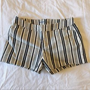 Old Navy Black & White Stripe Chino Shorts